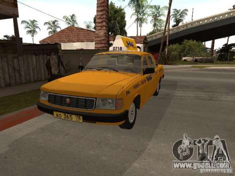 Volga GAZ 31029 Taxi for GTA San Andreas right view