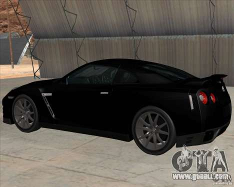 Nissan GT-R R35 for GTA San Andreas back left view