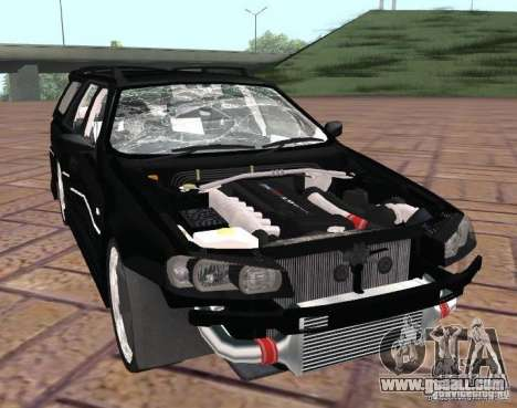 Nissan Stagea for GTA San Andreas inner view