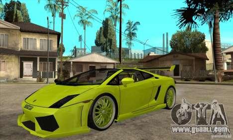 Lamborghini Gallardo LP560-4 Hamann for GTA San Andreas