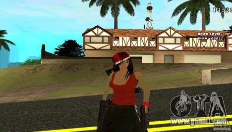 Chicano Chick Skin for GTA San Andreas second screenshot
