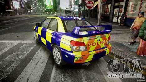 Subaru Impreza WRX Police [ELS] for GTA 4 back left view