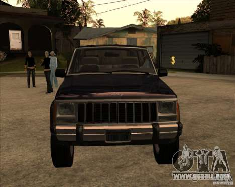 Jeep Cherokee for GTA San Andreas back left view
