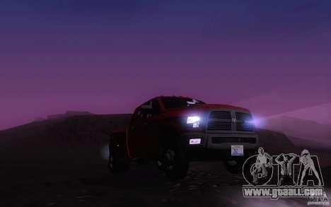 Dodge Ram 3500 Laramie 2010 for GTA San Andreas inner view