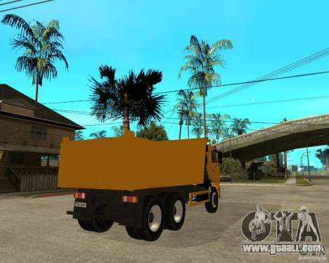 KAMAZ 6520 TAI for GTA San Andreas back left view