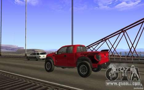 Ford F150 SVT RapTor for GTA San Andreas interior
