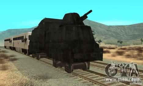 German armoured train of the second world for GTA San Andreas