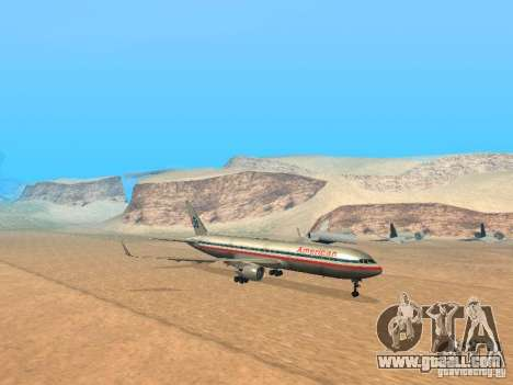 Boeing 767-300 American Airlines for GTA San Andreas left view