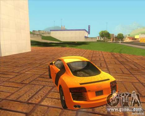 Audi R8 2007 for GTA San Andreas back left view