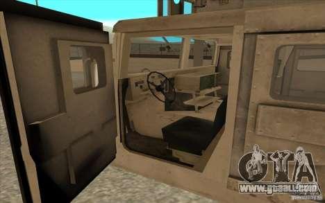 Hummer H1 Military HumVee for GTA San Andreas back view