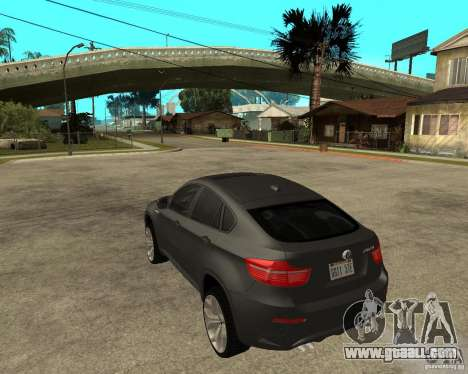 BMW X6 M for GTA San Andreas left view