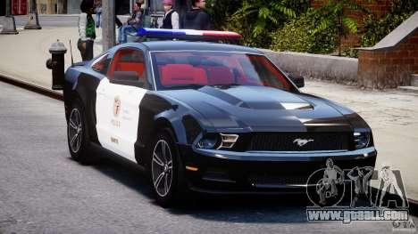 Ford Mustang V6 2010 Police v1.0 for GTA 4 back view
