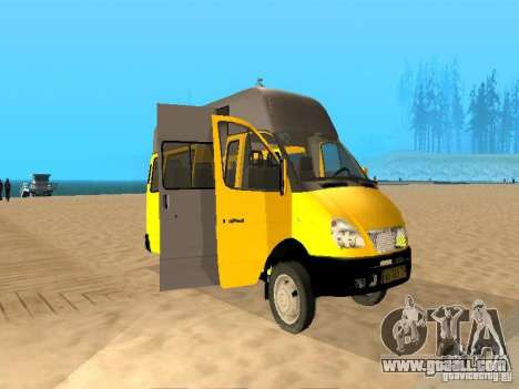 Gazelle 32213 taxi for GTA San Andreas left view