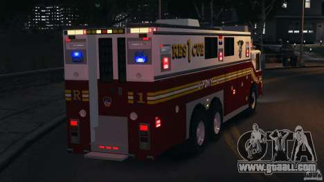 FDNY Rescue 1 [ELS] for GTA 4 interior