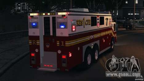 FDNY Rescue 1 [ELS] for GTA 4 interior
