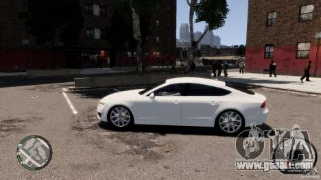 Audi A7 Sportback for GTA 4 left view
