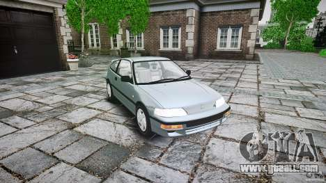 Honda CRX 1991 for GTA 4 inner view