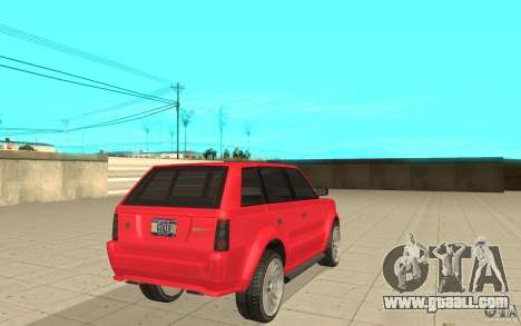 Huntley Sport from GTA 4 for GTA San Andreas back left view