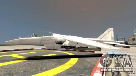 Liberty City Air Force Jet for GTA 4 left view