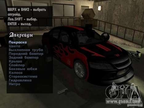Mitsubishi Lancer Evo IX MR Edition for GTA San Andreas right view