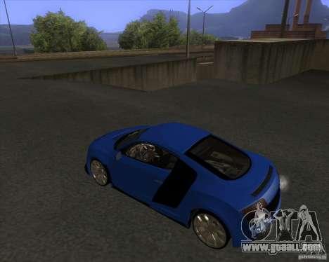 Audi R8 5.2 FSI for GTA San Andreas left view