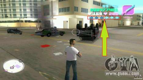 Wanted Level = 0 for GTA Vice City