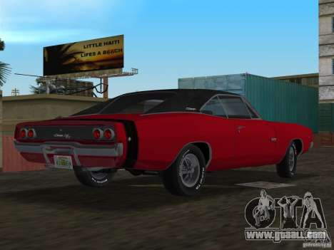Dodge Charger 426 R/T 1968 v1.0 for GTA Vice City left view
