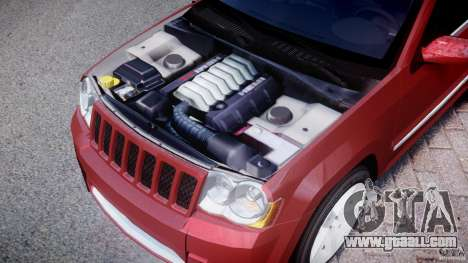 Jeep Grand Cherokee for GTA 4 inner view