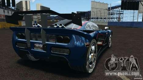 McLaren F1 ELITE for GTA 4 back left view