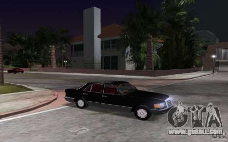 Mercedes-Benz W126 500SE for GTA Vice City back view