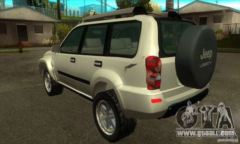 Jeep Liberty 2007 for GTA San Andreas back left view