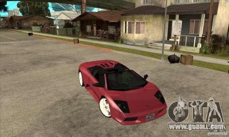 Lamborghini Murcielago Roadster Final for GTA San Andreas back view