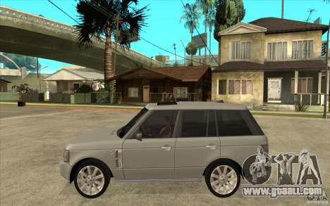 Land Rover Range Rover Supercharged 2009 for GTA San Andreas left view