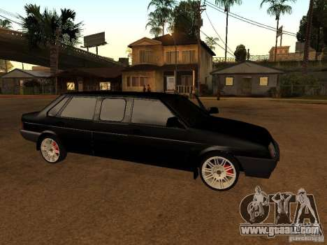 VAZ 21099 Limousine for GTA San Andreas back left view