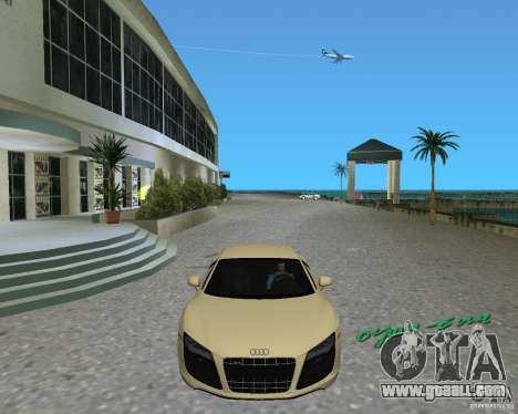 Audi R8 5.2 Fsi for GTA Vice City right view