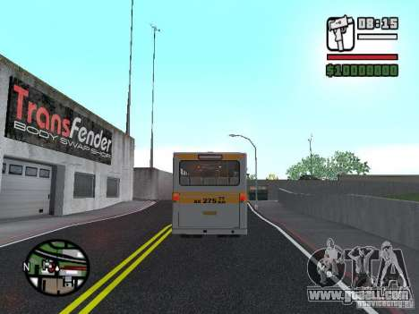 Mercedes-Benz O325 for GTA San Andreas back view