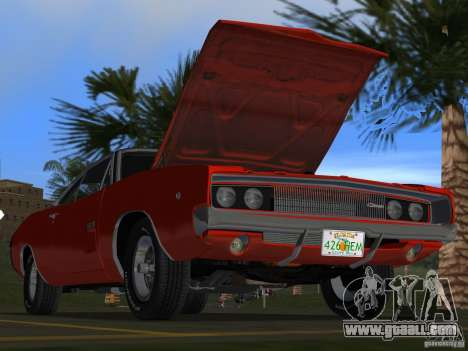 Dodge Charger 426 R/T 1968 v1.0 for GTA Vice City interior
