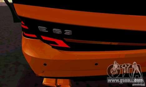 Mercedes-Benz E63 AMG for GTA San Andreas interior