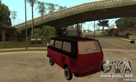 Volkswagen T3 Rusty for GTA San Andreas back left view