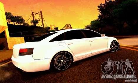 Audi A6 Blackstar for GTA San Andreas wheels