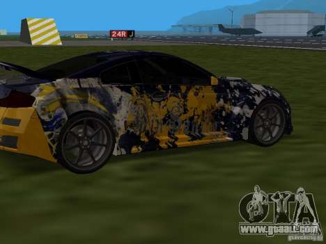Infinity G35 Binsanity for GTA San Andreas back left view