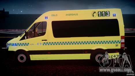 Mercedes-Benz Sprinter PK731 Ambulance [ELS] for GTA 4 engine