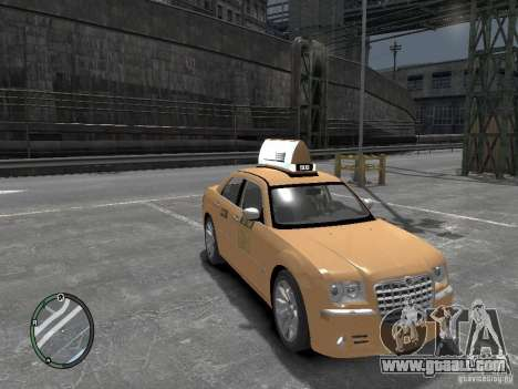 Chrysler 300c Taxi v.2.0 for GTA 4 right view