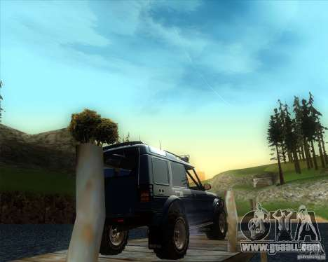 Landrover Discovery 2 Rally Raid for GTA San Andreas left view