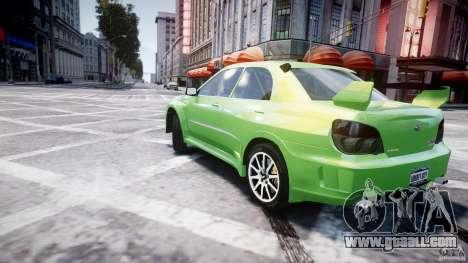 Subaru Impreza STI Wide Body for GTA 4 bottom view