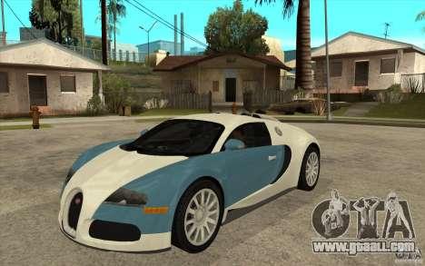 Bugatti Veyron Final for GTA San Andreas