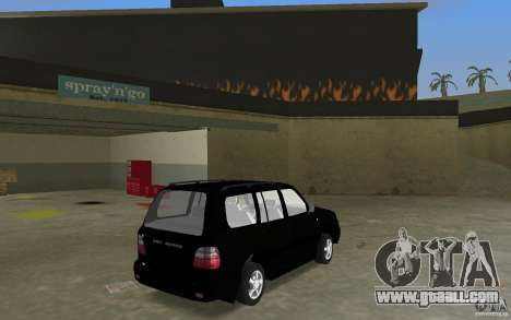 Toyota Land Cruiser 100 VX V8 for GTA Vice City back left view