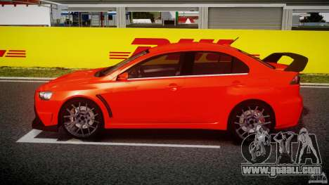 Mitsubishi Lancer Evo X 2011 for GTA 4 left view