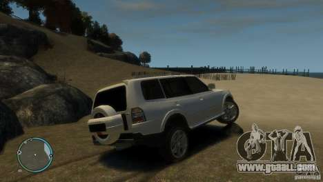 Mitsubishi Pajero Wagon for GTA 4 right view
