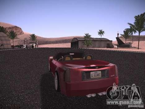 Cadillac XLR 2006 for GTA San Andreas right view
